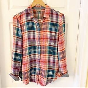 Lucky Brand | Plaid Flannel Long Sleeves Shirt | M